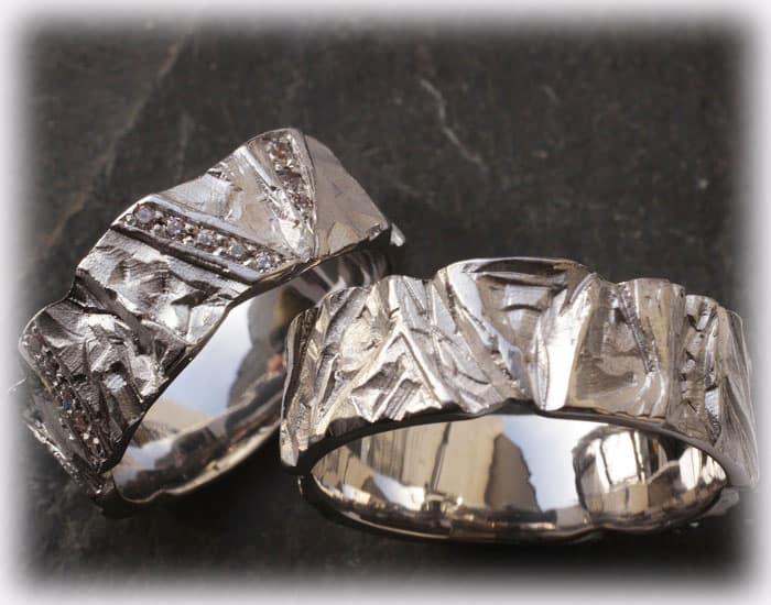 TrauringeEheringe IM113 mit Diamanten Platin Weigold