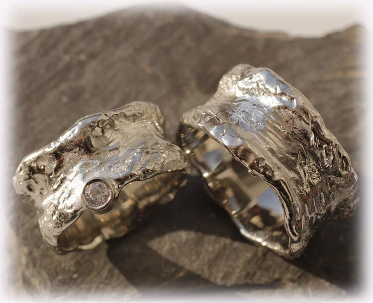 TrauringeEheringe IM114 Diamanten Weigold Palladium
