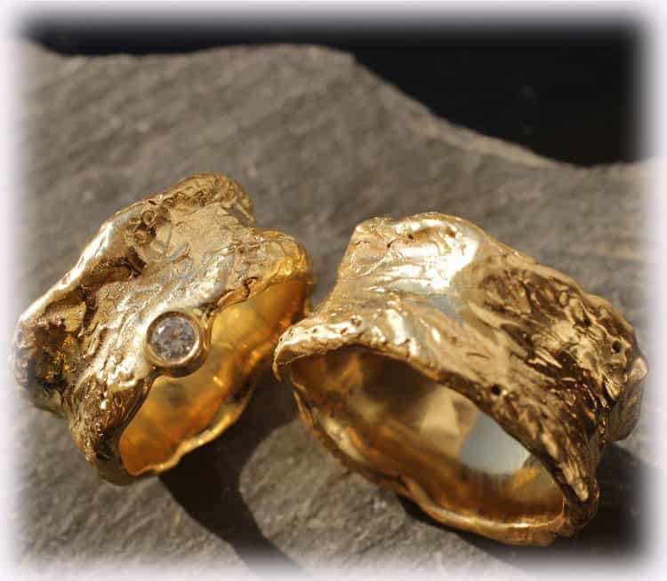 TrauringeEheringe IM115 aus Gelbgold 585 mit Diamanten