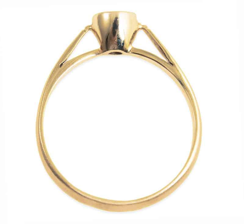 Verlobungsring IM685 Damenring 1 Diamant  012ct Gelbgold matt