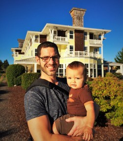 Chris Taylor and Tinyman at Port Ludlow