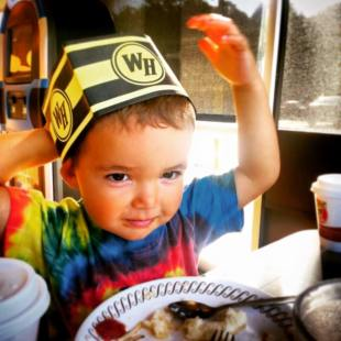 LittleMan at Waffle House Georgia