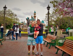 Taylor Family and Disneyland Castle 1