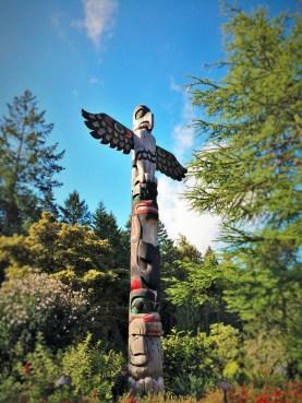 Buchart Garden Totempole Victoria BC 2