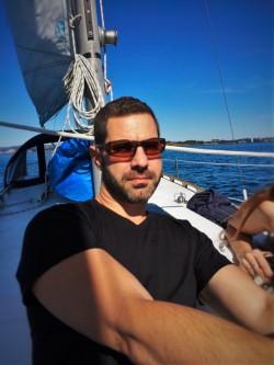 Chris sailing in Strait of Juan de Fuca