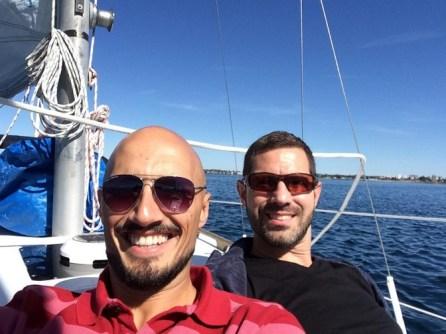 Chris and Rob Taylor Sailing Victoria