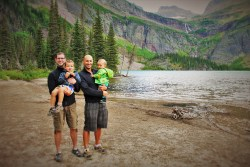 Taylor Family at Grinnell Lake in Glacier National Park 1