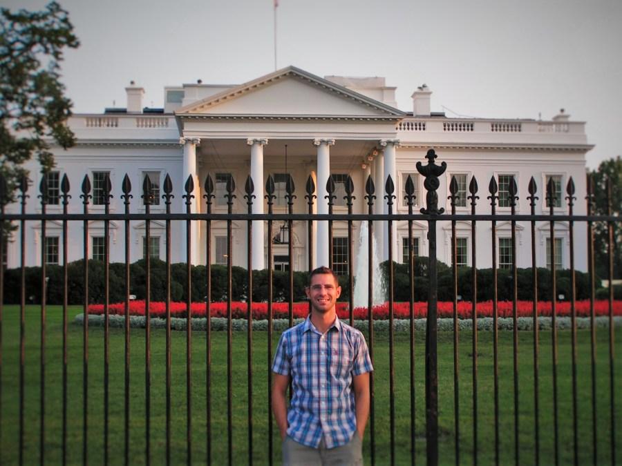 Chris Taylor at White House Washington DC