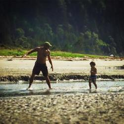 Rob Taylor and LittleMan at Salt Creek