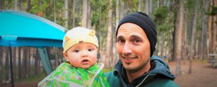 Rob Taylor and TinyMan Camping Yellowstone
