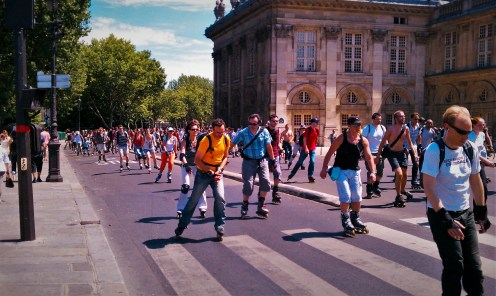 Rollerblading in Paris
