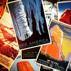 Souvenir Postcards National Parks