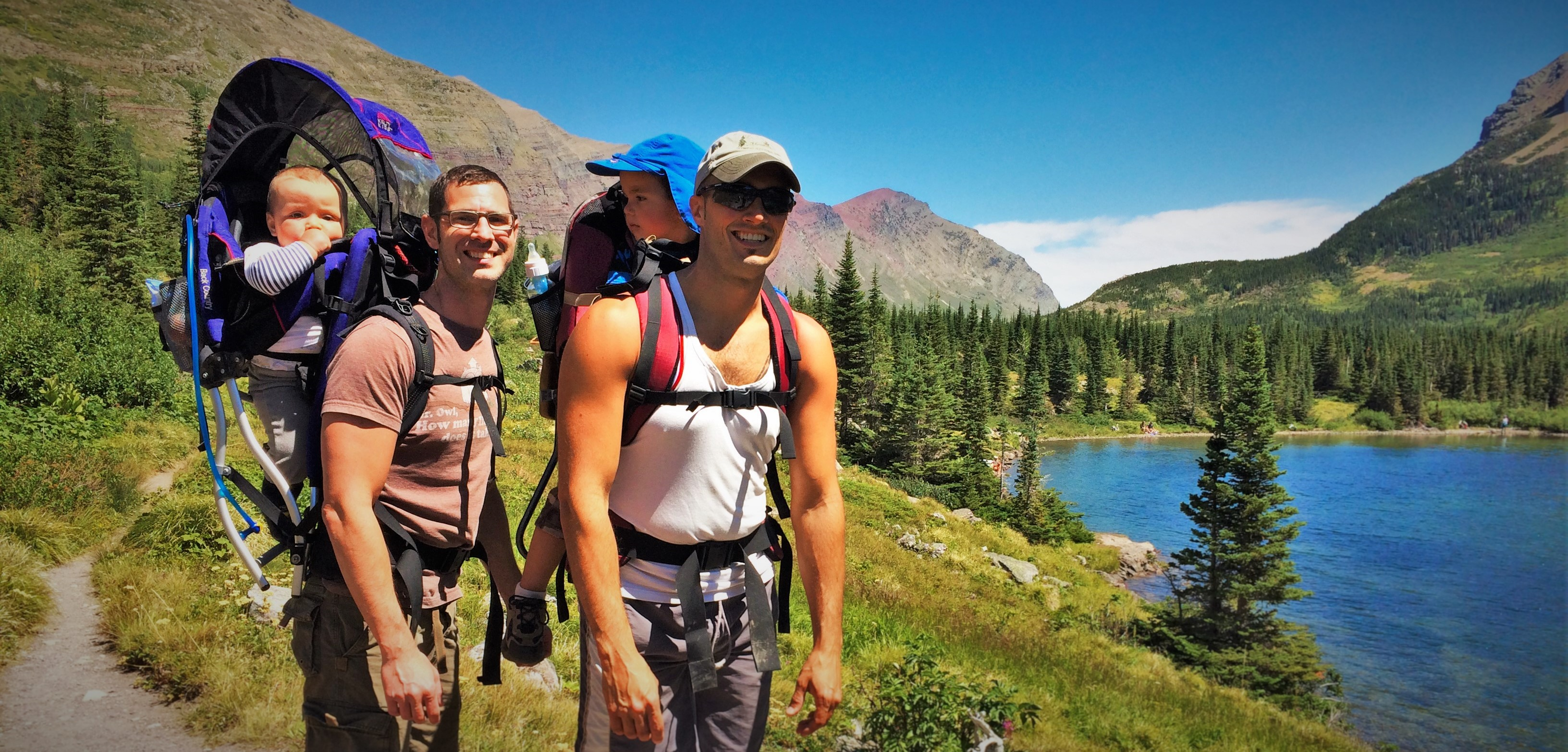 Taylor Family Hiking with kids Glacier National Park 2 header