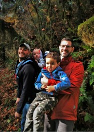 Taylor Family at Hoh Rain Forest in Olympic National Park 2traveldads.com