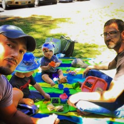 Taylor Family at Hoh Rainforest Picnic