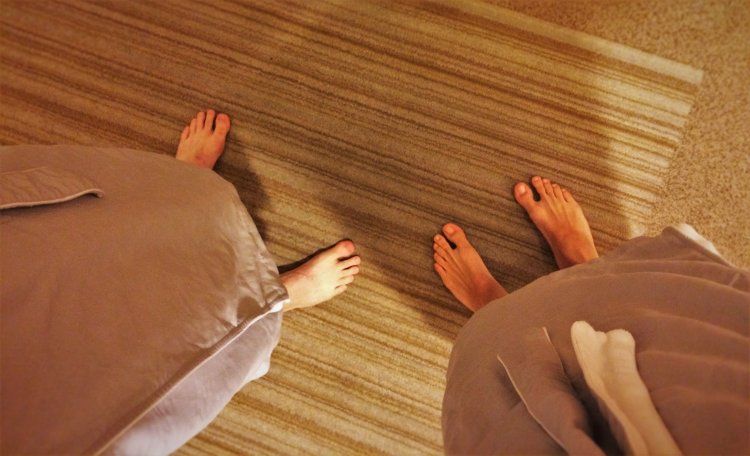 Bare feet in Robes at Hyatt Olive 8 Seattle
