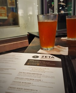 Beers at Zeta Brewing Jacksonville Beach 1