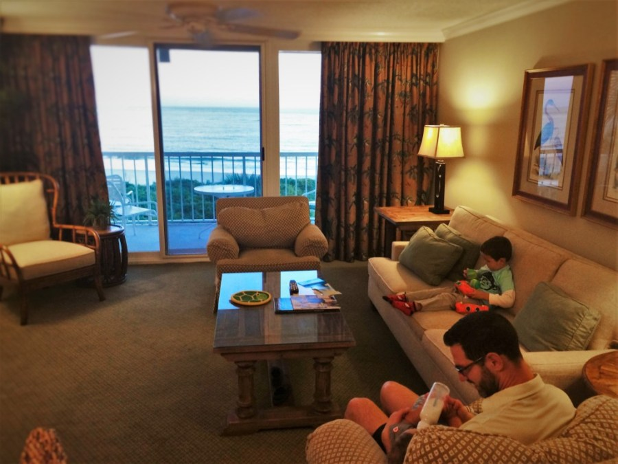 Chris Taylor and Dudes Relaxing in Suite at King and Prince Resort St Simons GA 1