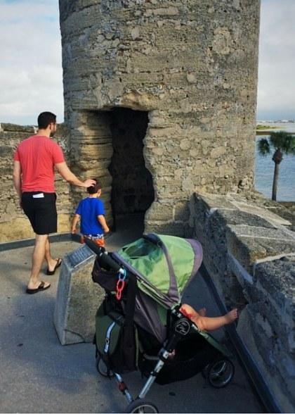 Chris Taylor and dudes at Castillo de San Marcos St Augustine 2traveldads.com