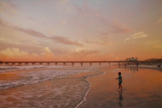 LittleMan and Sunset at Casa Marina Jax Beach 1