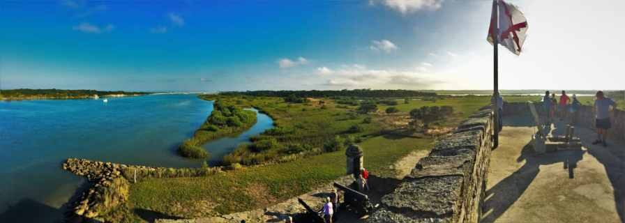 Panoramic from Lookout Tower on Fort Matanzas National Monument St Augustine FL