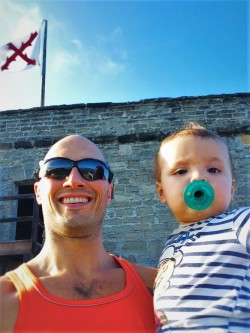 Rob Taylor and TinyMan at Fort Matanzas National Monument St Augustine FL 1
