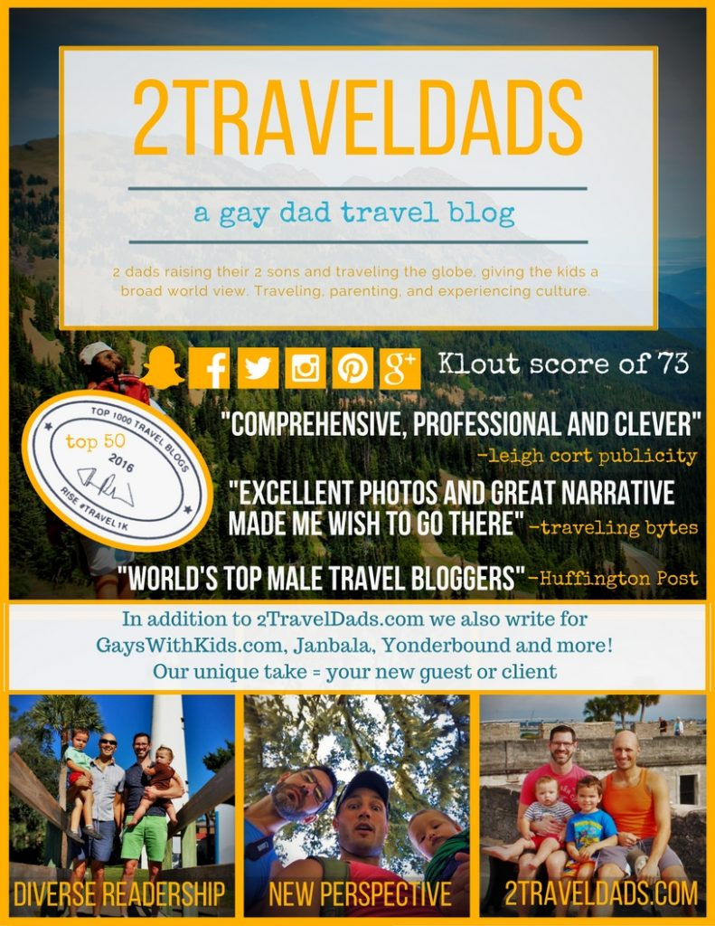 See who 2TravelDads are and why they're a great outlet for your destination or product!