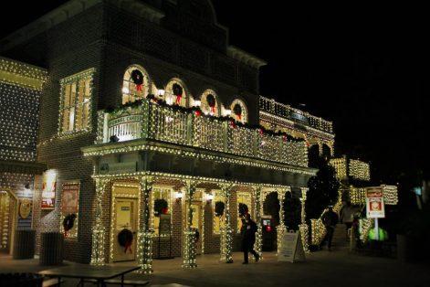 Christmas Lights in Stone Mountain Park in Atlanta Georgia 2