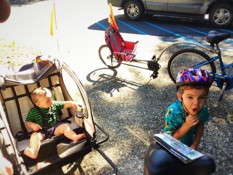 Dudes Getting Ready for Biking St Simons Island GA 1