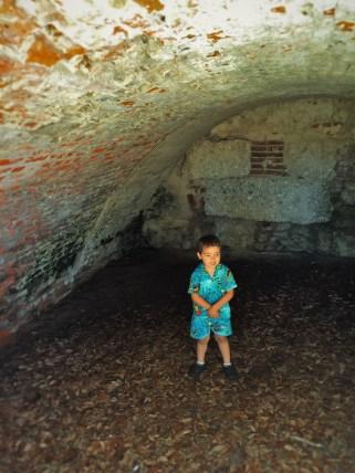LittleMan at Fort Frederica Natl Monument St Simons GA 4 2traveldads.com