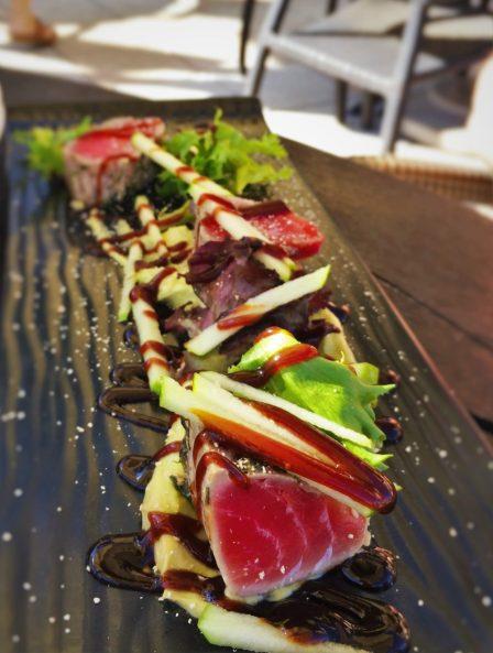 Seared Tuna at Echo Restaurant at King and Prince Resort St Simons GA 2traveldads.com