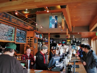 Brew Bar Counter at Icicle Brewing Leavenworth WA