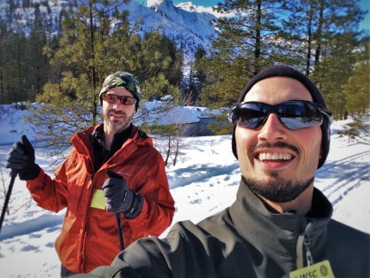Chris and Rob Taylor Cross Country Skiing at Sleeping Lady Resort Leavenworth WA 1