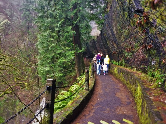 Hiking Trail at Multnomah Falls Columbia Gorge Oregon