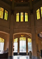 Inside Vista House with Stained Glass Windows Art Deco