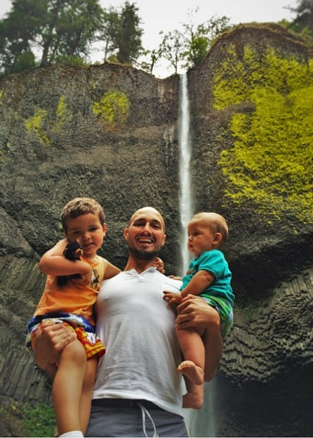 Rob Taylor and Dudes at Latourell Falls Columbia Gorge Waterfall Area Oregon