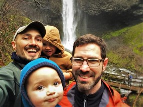 Taylor Family at Latourell Falls Oregon 1
