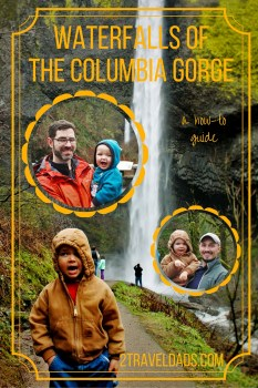 Family Travel guide to visiting the Waterfalls of the Columbia Gorge. Between Portland and Hood River, Oregon lies an awesome collection of cascades and hiking trails. 2traveldads.com