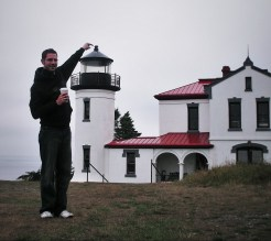 Chris Taylor at Admiralty Head Lighthouse Whidbey Island Washington 1