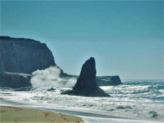 Crashing Waves at Pigeon Point California