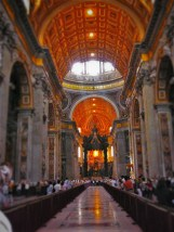 Inside St Peters Basillica from Wherever I May Roam1