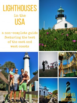 There are so many lighthouses in the USA. Check out this sampling from the east and west coasts. Lighthouses are perfect family travel destinations!
