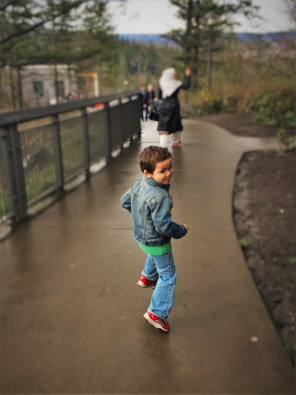 LittleMan Running at Snoqualmie Falls 1