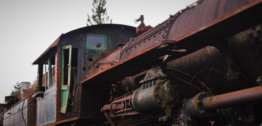 Old Steam Engine at Railroad Graveyard in Snoqualmie Washington 5