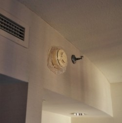 Shower Cap over Smoke Detector in Luxury Suite at Westin Seattle 1