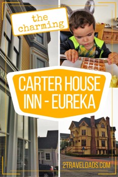 The most charming hotel in Northern California, the Carter House Inn is perfect for a family of four exploring the Redwood Coast. 2traveldads.com