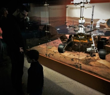 Chris Taylor and Moon Rover in Denver Museum of Science and Nature 1