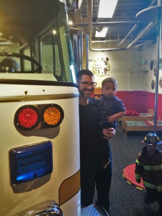 Chris Taylor and TinyMan with Fire Truck at Childrens Museum of Denver 1