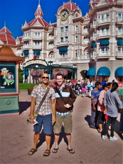 Chris and Rob Taylor in Disneyland Paris 1
