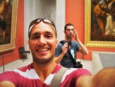 Chris and Rob Taylor in Louvre Paris 1